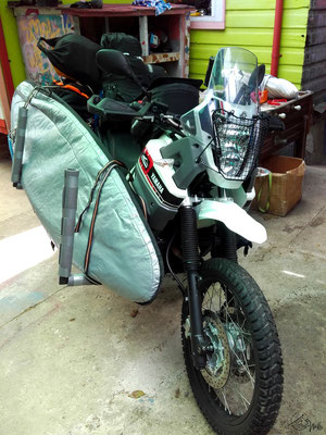 Surfrack motorbike - Yamaha Ténéré - front