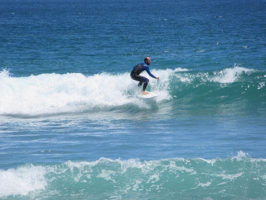 Surfing in Pichidangui