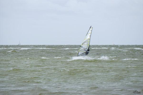 Windsurfen am Ijselmeer / Holland