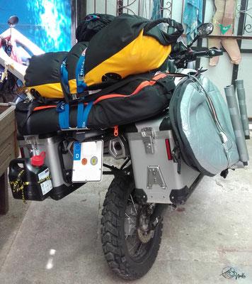 Surfrack motorbike - Yamaha Ténéré - back