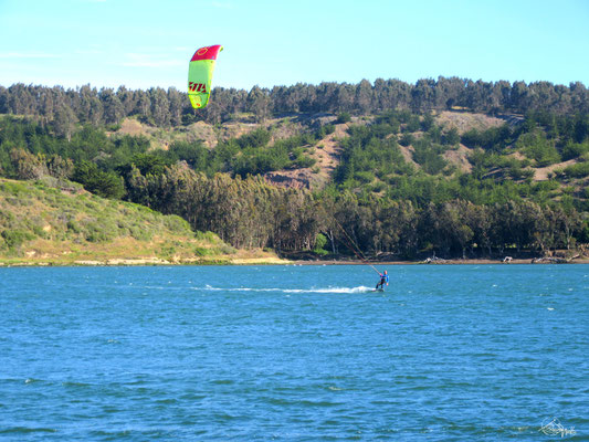 Kitesurfing in Chile