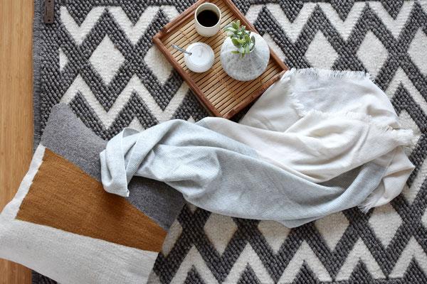 Handgefertigter Teppich der mexikanischen Manufaktur umale