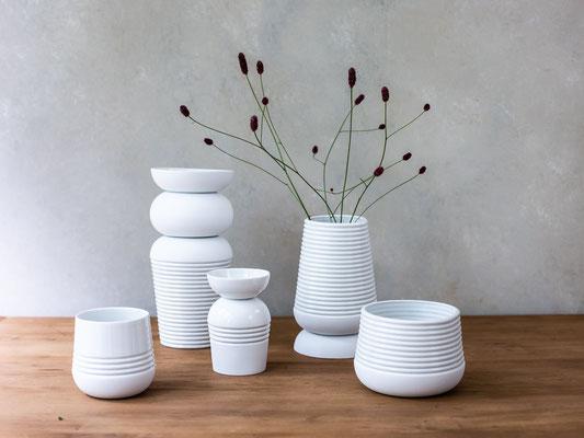 Die niederländische Designerin Ineke van der Werff entwirft Keramik in modernen Formen