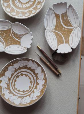 Die Keramikkollektion der Schwedin Kristine Thenman steht für die Verbindung von Altem und Neuem