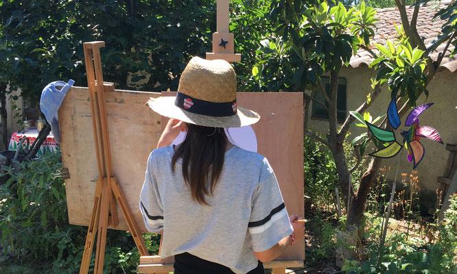 Stage de peinture 2019 Atelier Martine H