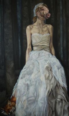 mrs. j. l. dahmer . 2015 . 194x120 . oil on canvas