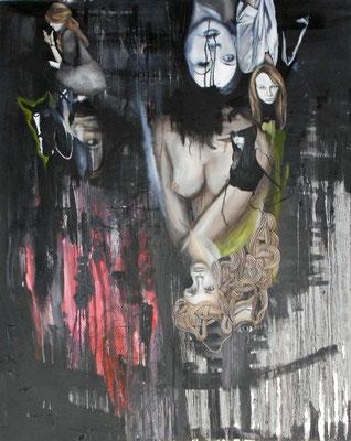 menschen die mutter sagen I . 2012 . 100x80 . oil on canvas