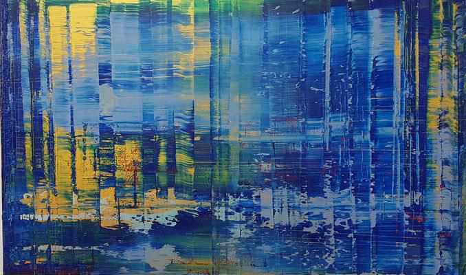 KERSTIN SOKOLL, Gold IV, 2020, S004, 80 x 130 cm