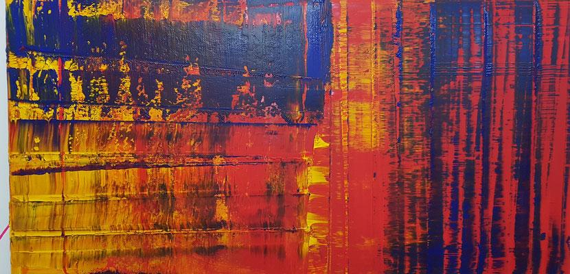 KERSTIN SOKOLL, Bernoulli in Red, 2020, Q004, 100 x 200 cm