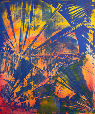 KERSTIN SOKOLL, Clockwork Orange, 2020, O019, 120 x 100 cm, SOLD