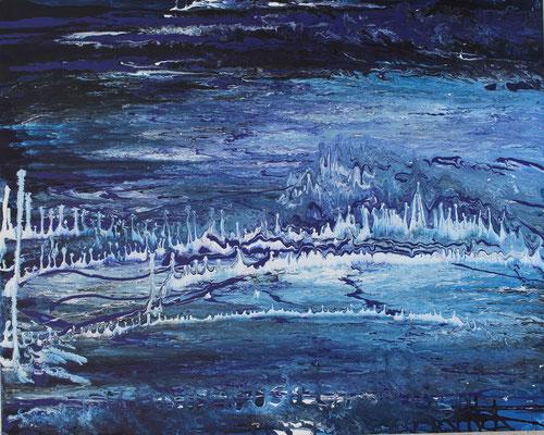 KERSTIN SOKOLL, White Noise, 2016, N001, 80 x 100 cm, SOLD