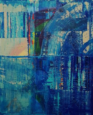 KERSTIN SOKOLL, Blue View, 2020, O027, 120 x 100 cm