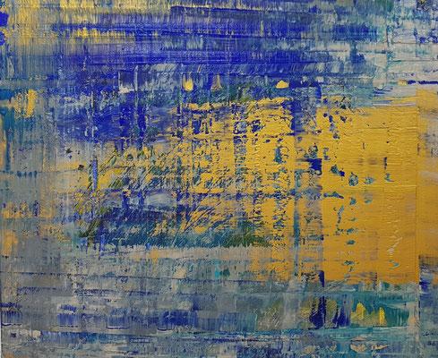 KERSTIN SOKOLL, gold I, 2020, O007, 2019, 100 x 120 cm, SOLD
