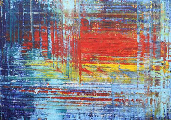 KERSTIN SOKOLL, Crescendo, 2020, P008, 100 x 140 cm