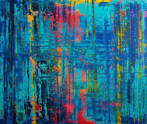 KERSTIN SOKOLL, Sunset Reflection, 2020, ST001, 120 x 140 cm, SOLD