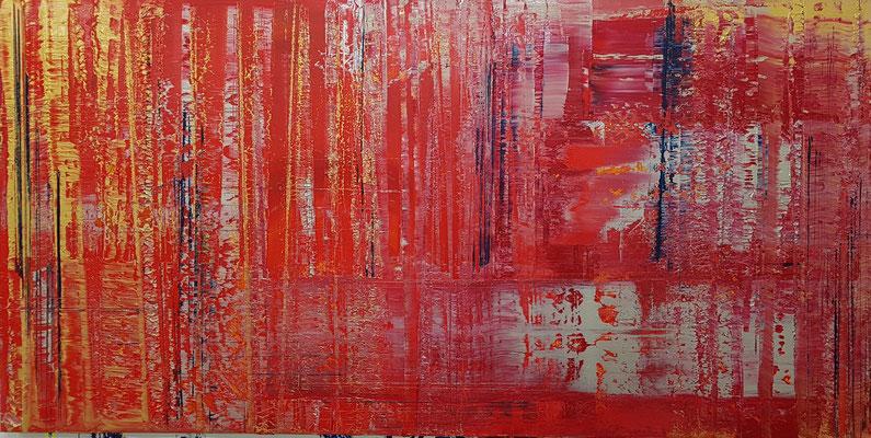 KERSTIN SOKOLL, Rush Hour, 2020, Q003, 100 x 200 cm