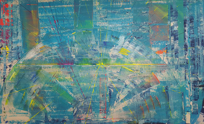 KERSTIN SOKOLL, Retro Galaxian, 2020, S005, 80 x 130 cm