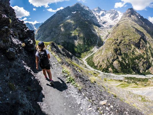 Sentier des crevasses depuis le col du Lautaret