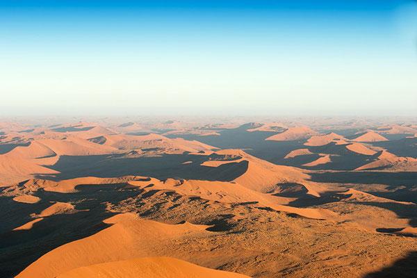 Sossusvlei - les dunes vue du ciel...