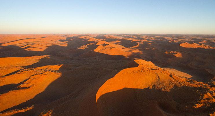 Sossusvlei: les dunes vues du ciel