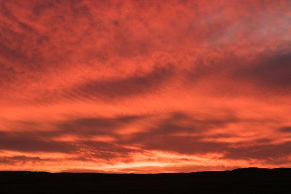 Tirasberg - incroyable coucher de soleil