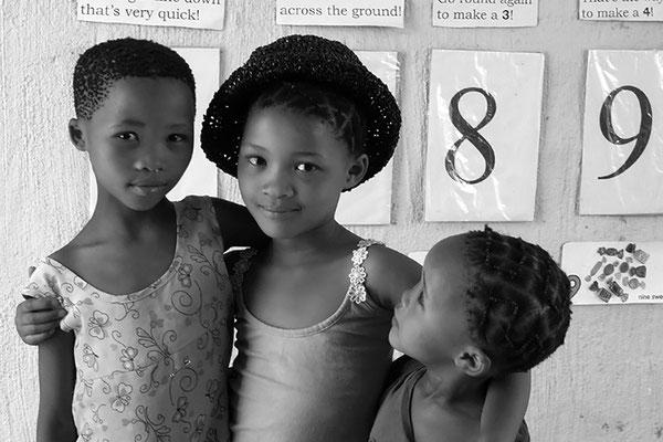 Enfants bushman - Namibie