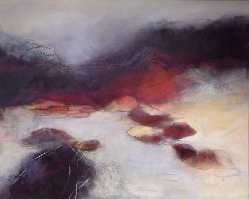 Gap of Dunloe, Irland, Acryl-Mischtechnik auf Leinwand, 80 x 100 cm, 2014. Preis auf Anfrage