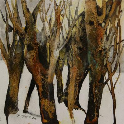 Erinnerung (Stubnitz) II, Acrylmischtechnik auf Malplatte, 30 x 30 cm, 2015, Preis auf Anfrage
