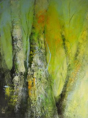 Frühling, Acryl auf Hadernbütten, 56 x 76 cm, 2015, Preis auf Anfrage