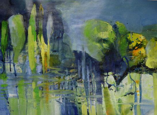 Bodensee-Impression, Acryl auf Papier, 105 x 75 cm, 2016, Preis auf Anfrage
