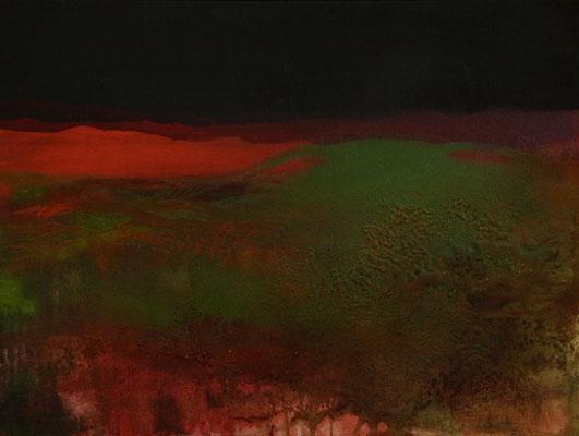 Uferzonen III, Acrylmischtechnik auf Leinwand, 60 x 80 cm, im Schattenfugenrahmen, 2016, Preis auf Anfrage