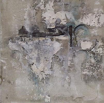 Kühle, Baumaterial, Marmormehl auf Leinwand, 50  x 50 cm, 2013, Preis auf Anfrage