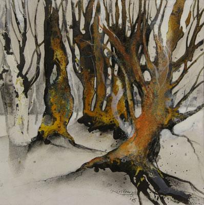 Erinnerung (Stubnitz) III, Acrylmischtechnik auf Malplatte, 30 x 30 cm, 2015, Preis auf Anfrage