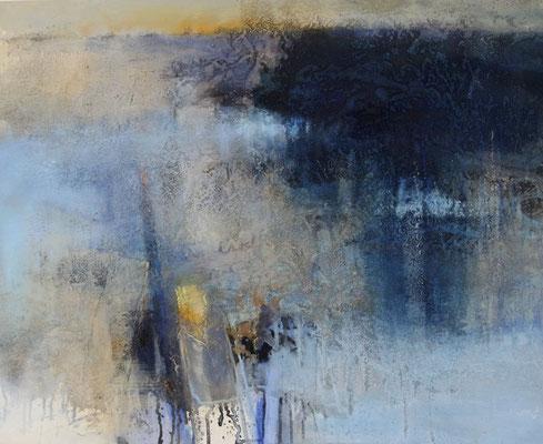 Uferzonen I, Acrylmischtechnik auf Leinwand, 80 x 100 cm, 2016, Preis auf Anfrage