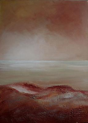 Blick von Rubjerg Knude, Nordjütland, Acrylmischtechnik auf Leinwand, 60 x 80 cm, 2009, Preis auf Anfrage