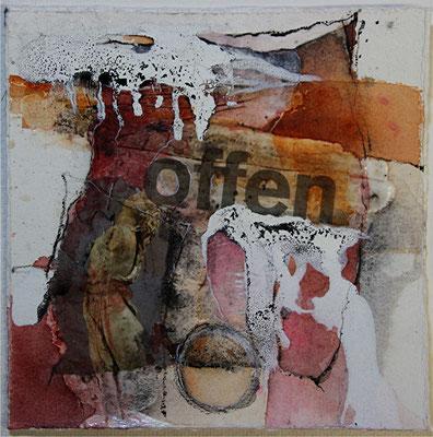 Offen, Tusche, Aquarell, Kohle, 22 x 22 cm, 2014, Preis auf Anfrage