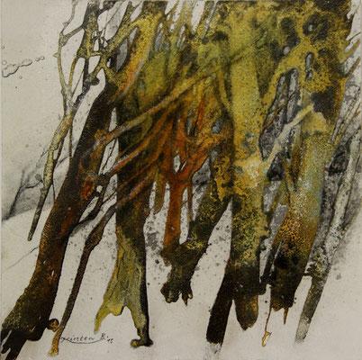 Erinnerung (Stubnitz) I, Acrylmischtechnik auf Malplatte, 30 x 30 cm, 2015, Preis auf Anfrage