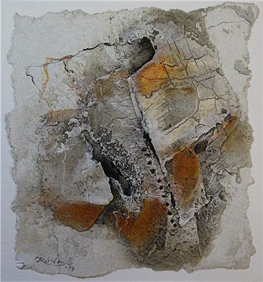 o.T., Baumaterial, Marmormehl auf Papier, 22 x 22 cm, 2014, Preis auf Anfrage