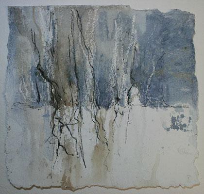 MaRah II- Warten, Acrylmischtechnik auf Papier, 30 x 30 cm, 2013, Preis auf Anfrage