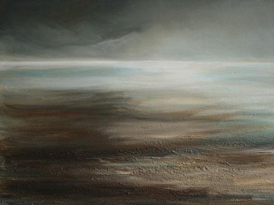 Nach dem Unwetter, Acrylmischtechnik auf Finnpappe, 50 x 70 cm, 2009, verkauft