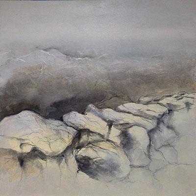 Große Irlandlandschaft I, Acryl-Mischtechnik auf Leinwand, 80 x 80 cm, Preis auf Anfrage