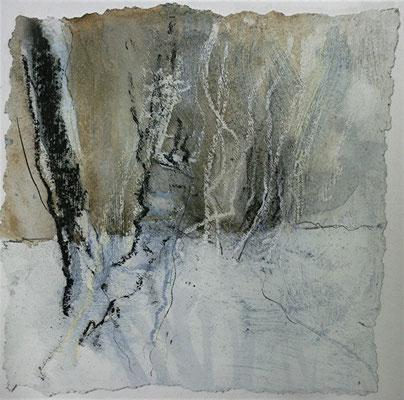 MaRah III - Winterliche Kontraste, Acrylmischtechnik auf Papier, 30 x 30 cm, 2013, Preis auf Anfrage