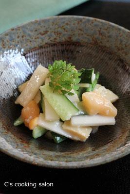 貝と春野菜の酢味噌和え