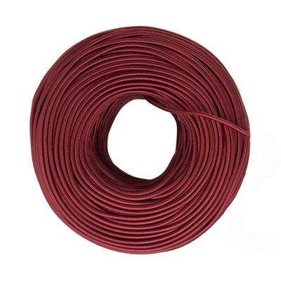 Textilkabel - burgundy