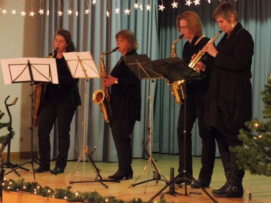 Das Saxophonquartett unter Leitung von Frau Möschlin