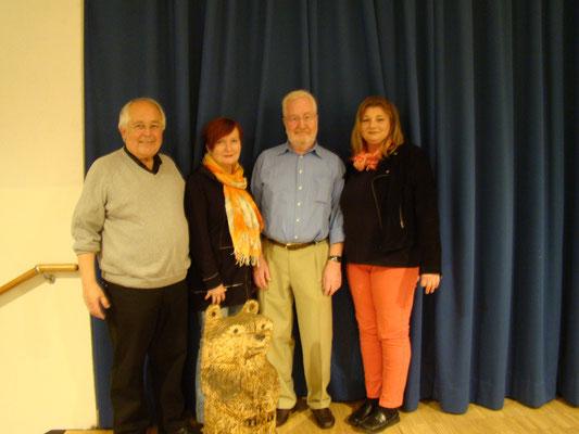 Der neue Vorstand: v. l. H. Krischik, I. Hoffmann, J. Braekow, B. Rudolph