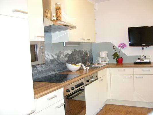 Wohnküche ausgestattet mit allem Komfort