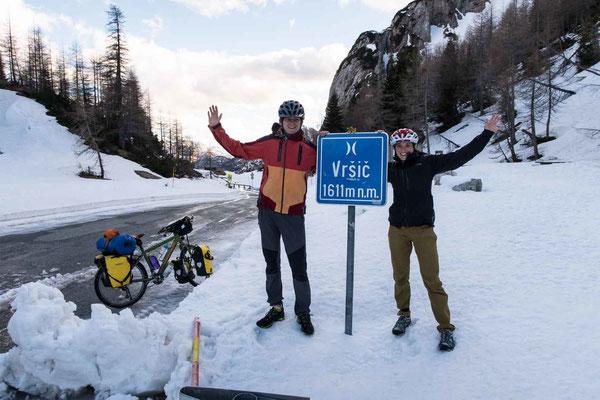 Der Vršič Pass auf 1611 m