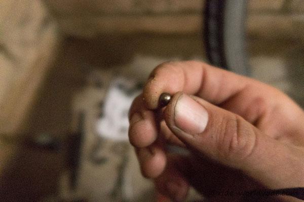 Defekte Kugel an Andis Hinterradnabe