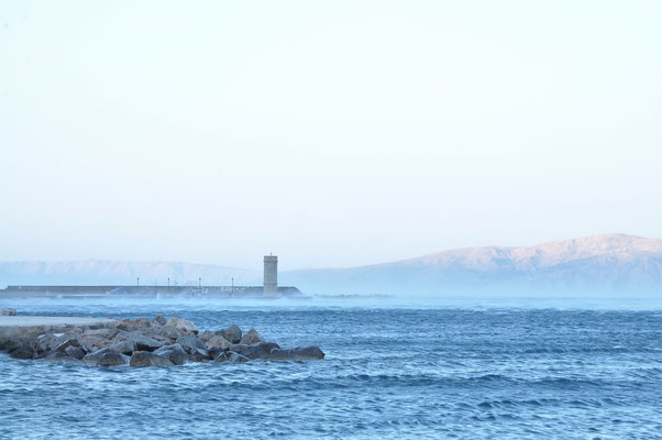 Bora an der Kroatischen Küste